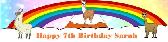 Personalised Llama banner