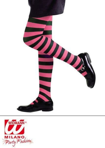 Striped Pink and Black Tights