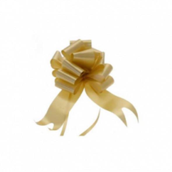 30mm Gold Pull Bow Ribbon