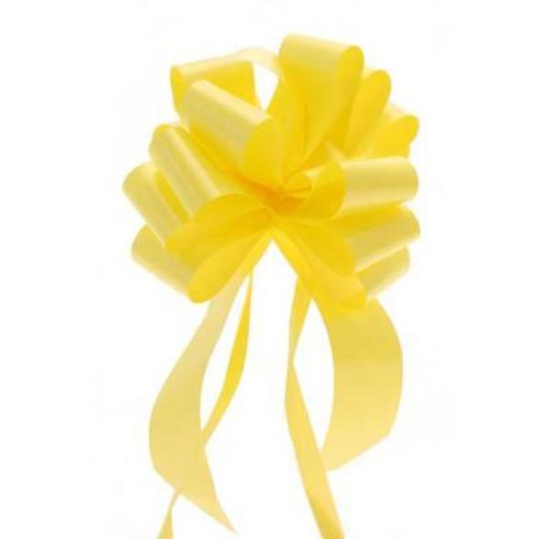 30mm Yellow Pull Bow Ribbon