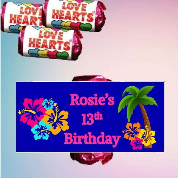 9Pk Hawaii Love Heart Sweets