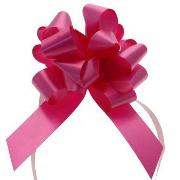 30mm Hot Pink Pull Bow Ribbon
