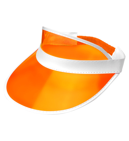 Orange Sun Visor Hat