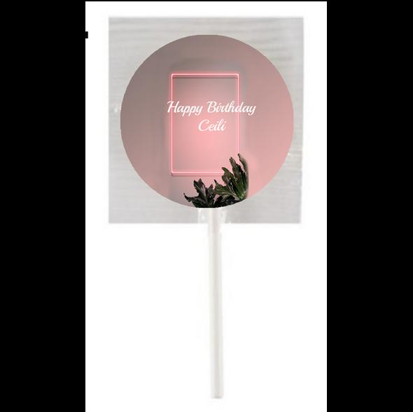 15PK Pink Lights Lollipops