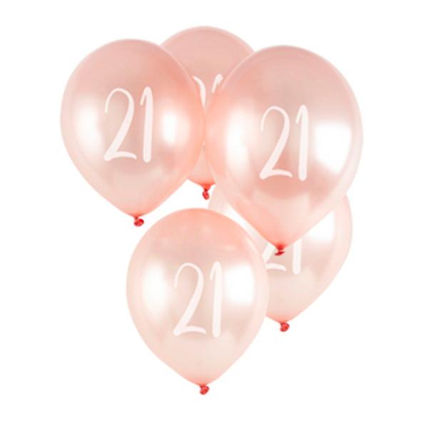 21st Rose Gold Milestone Balloon