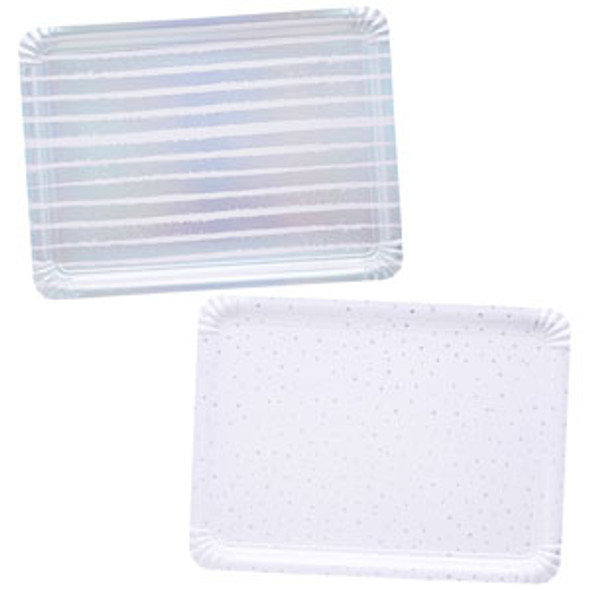 Iridescent Striped & Spotted Paper Trays