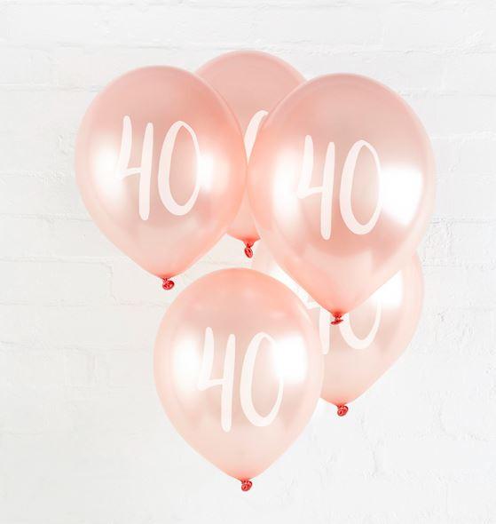 40th' Milestone Balloons