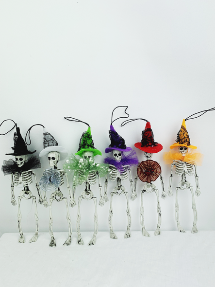 Colourful Hanging Skeletons