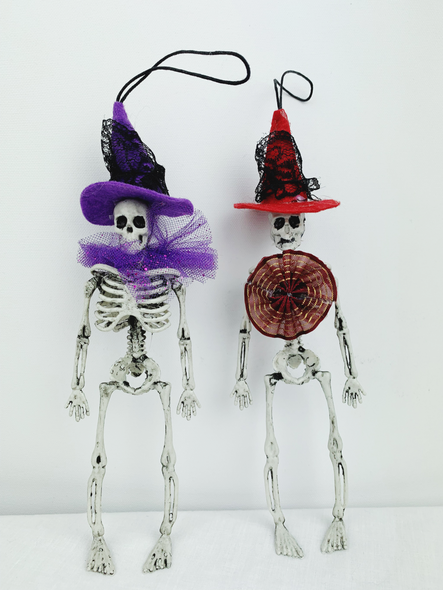 Purple and Red Skeletons