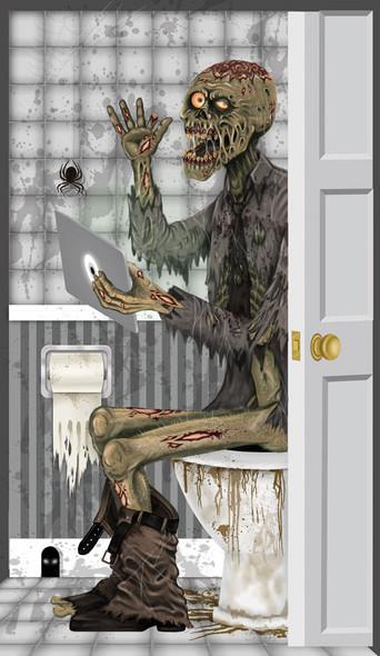 Creepy Halloween Door Covers Toilet
