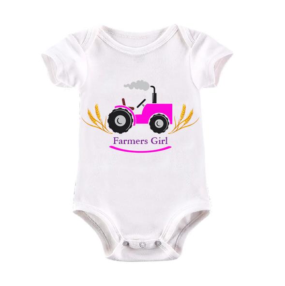 Farmers Girl Baby Vest