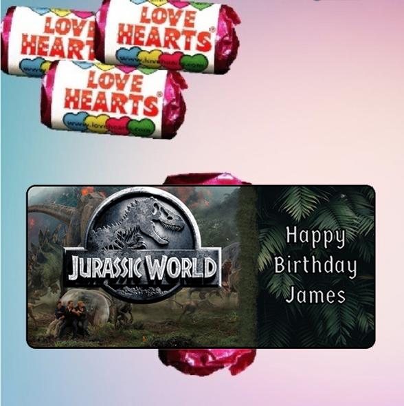 9Pk Jurassic World Love Heart Sweets