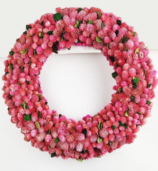 Indoor Pink Flower Bud Wreath