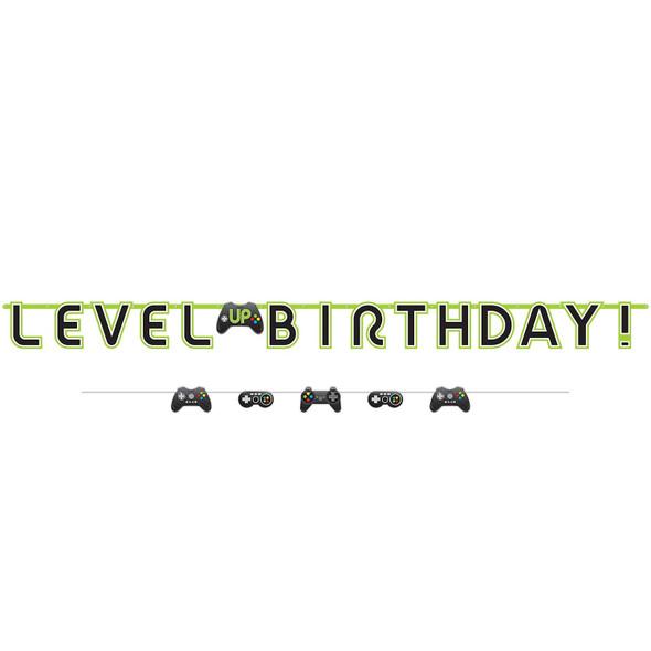 Level Up Paper Banner