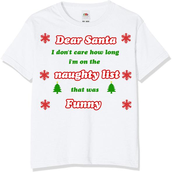 Dear Santa Naughty List T-Shirt,