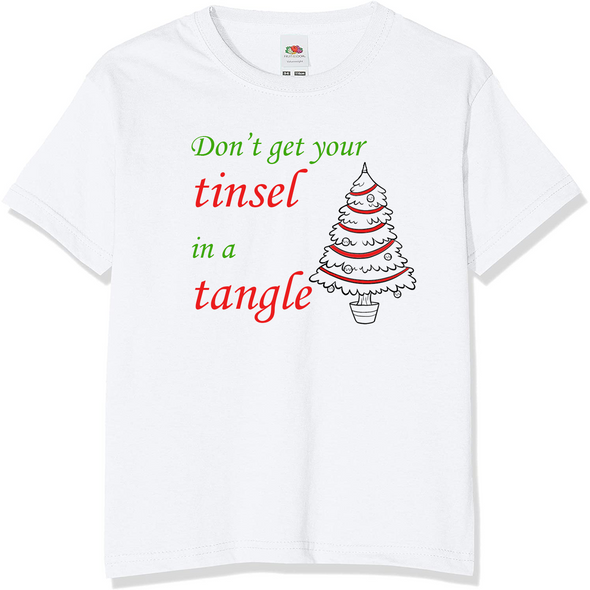 Tinsel In A Tangle Christmas T-Shirt,