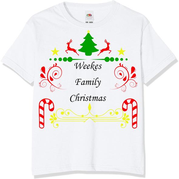Personalised Family Christmas T-Shirt