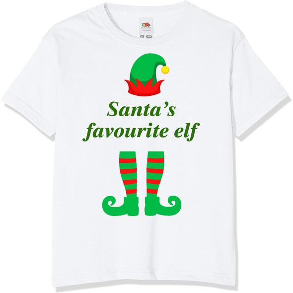 Santa's Favourite Elf Christmas T-Shirt