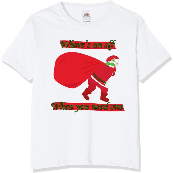 Where's An Elf Christmas T-Shirt
