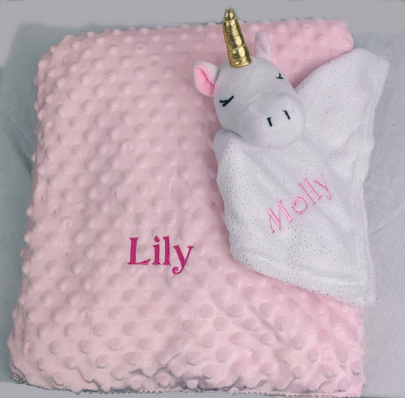 Personalised Pink & White Embroidery Bundle