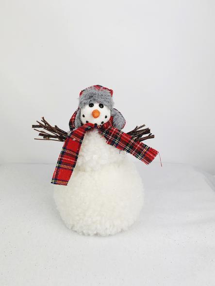 Winter Tartan Snowman Decoration