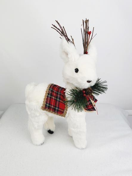Winter Tartan Deer Decoration