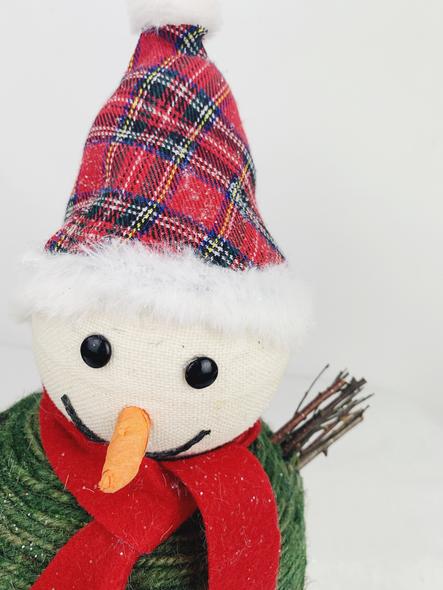 Winter Snowman Decoration Close Up