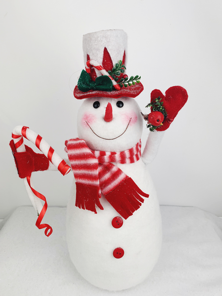 Christmas Red Snowman Decoration