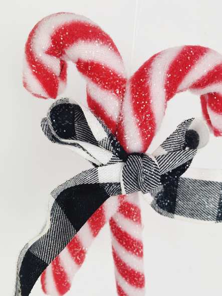 Hanging Candy Cane Decoration Close Up