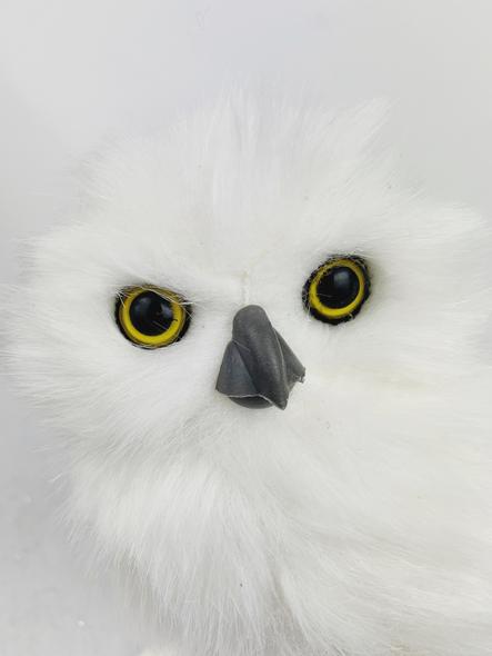 Winter Owl Decoration Close Up