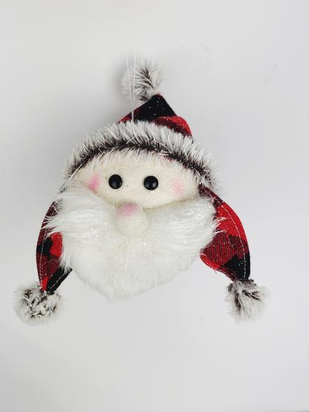 Hanging Santa Head Decoration