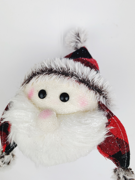 Hanging Santa Head Decoration Close Up