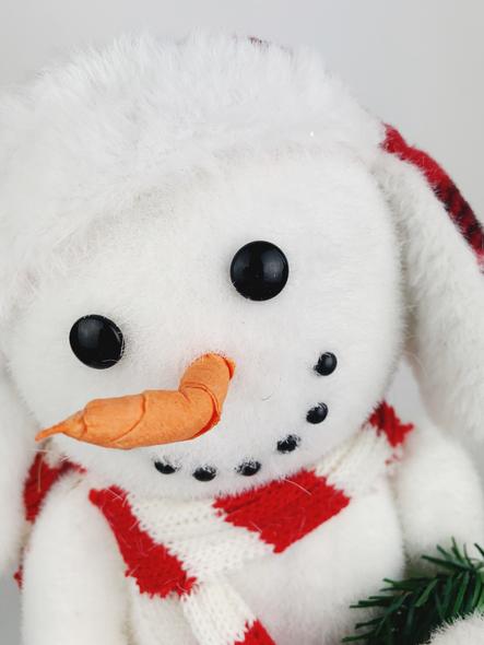 Cute Christmas Snowman Decoration Close Up