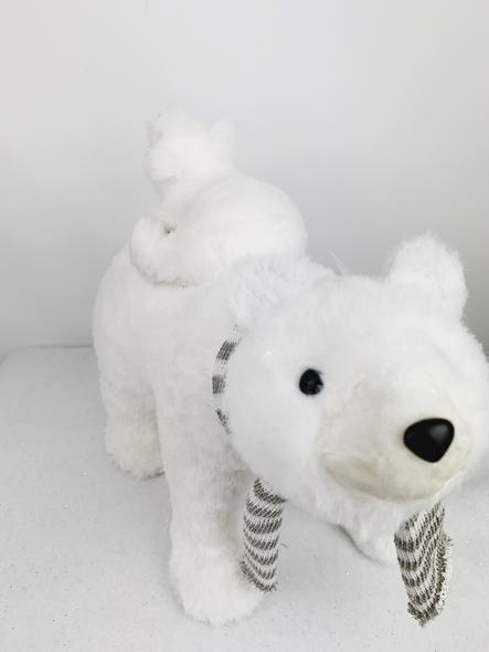 Parent and Child Polar Bear Decoration Front View