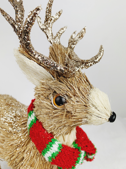 Christmas Daddy Deer Decoration Close up