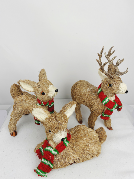 Christmas Family Deer Decorations (3 Pack)