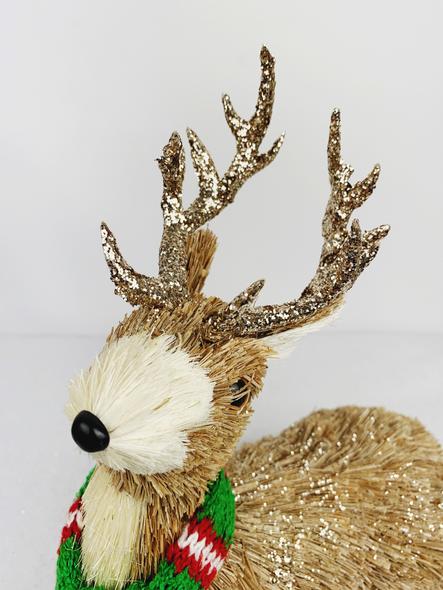 Winter Female Deer Decoration Close Up