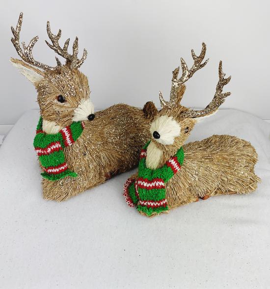 Winter Deer Decorations (2 Pack)