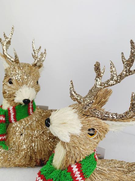 Winter Deer Decorations Close Up