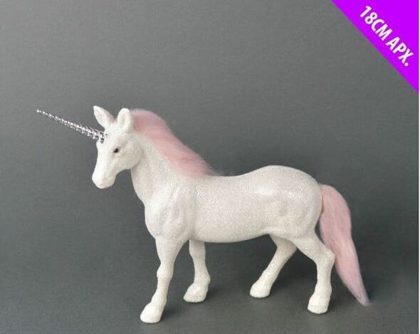 Glitter White Unicorn