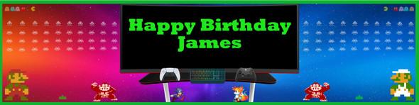 Personalised Gaming Banner
