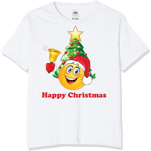 Emoji Christmas Kids T-Shirt,