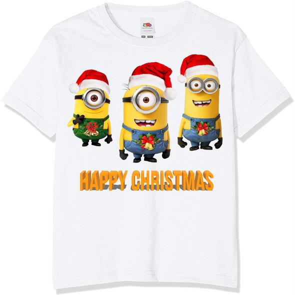 Minions Christmas Kids T-Shirt