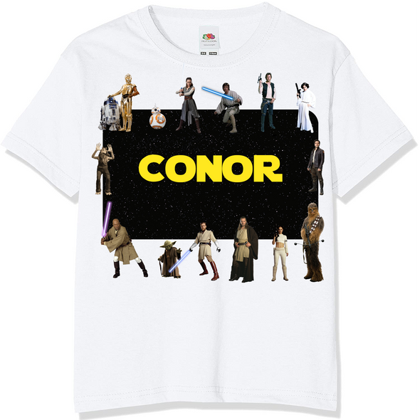 Personalised Star Wars Kids T-Shirt