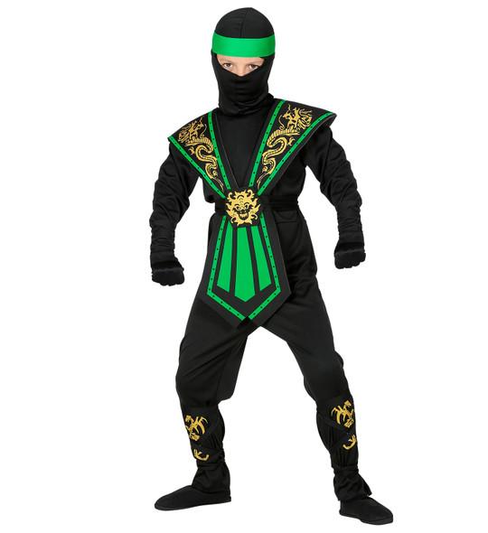 Boys Green Kombat Ninja Costume