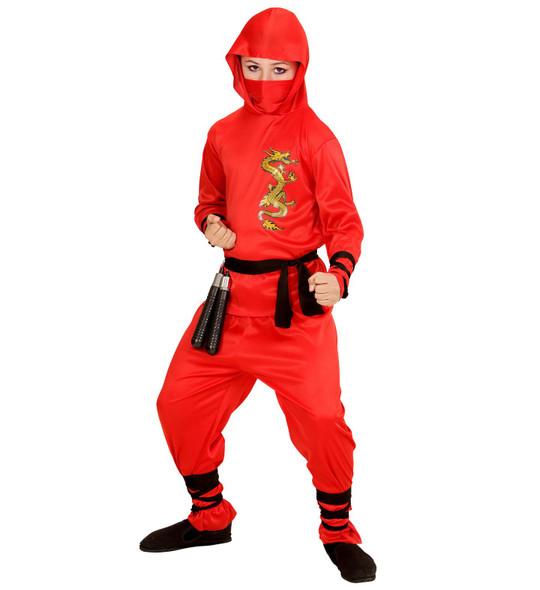 Boys Red Dragon Ninja Costume