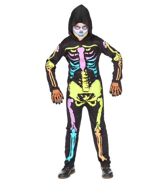 Colourful Kids Skeleton Costume