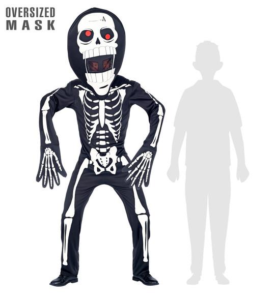 Oversized Head Skeleton Costume