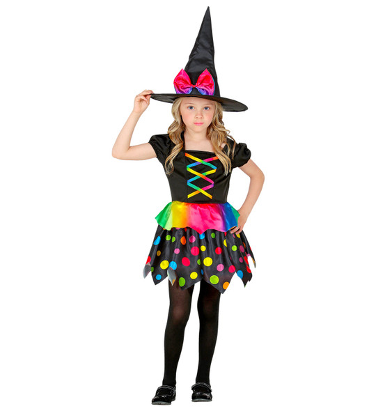 Kids Colourful Witch Costume