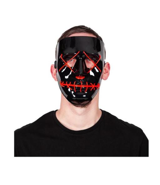 Neon EL Red Light Up Mask Man
